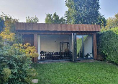 Outdoor garden gym by Davey Stone Associates architectural design