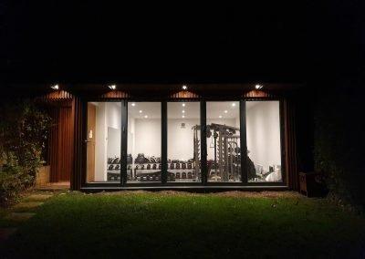 Garden gym by Davey Stone Associates residential architectural design