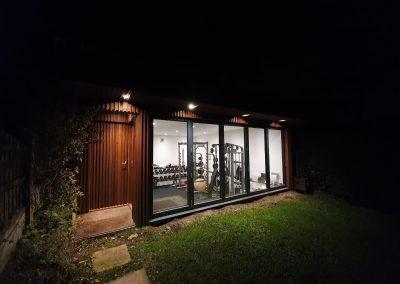 Gym in garden by Davey Stone Associates architectural design