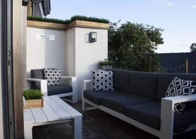 Designer patio by Davey Stone Associates architectural designers