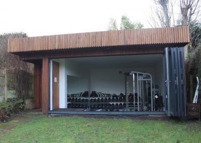 Garden gym room by Davey Stone Associates architectural designers